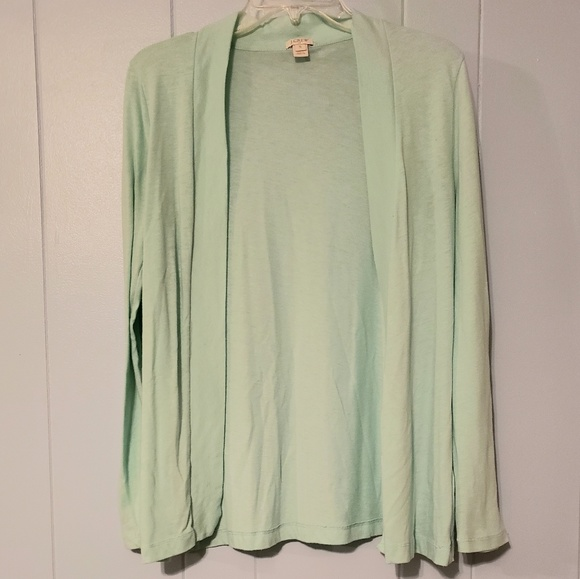 J. Crew Sweaters - Mint green J.Crew light cardigan, size S